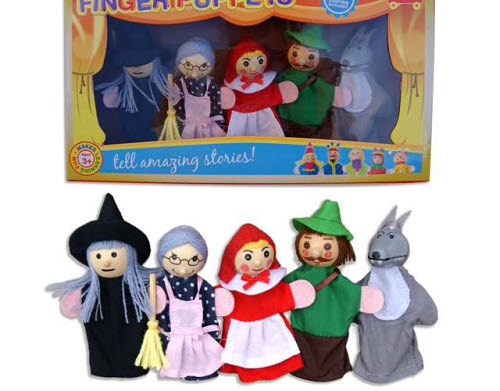 Finger Puppet 5pcs - Red Riding Hood - Finger Puppet - Red Riding Hood