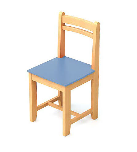 Classic Chair in Natural & Colour Beech Wood - Classic Chair in Natural & Colour Beech Wood