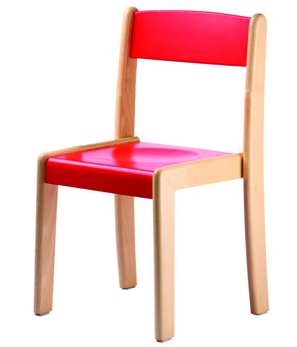 Deluxe Chair in Natural or Colour Beech Wood - Deluxe Chair in Natural or Colour Beech Wood