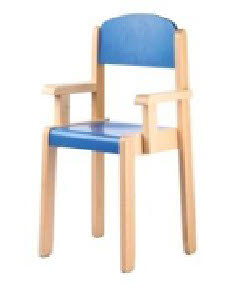 Elegance Chair with arms in Natural or Colour Beech Wood - Elegance Chair with arms in Natural or Colour Beech Wood