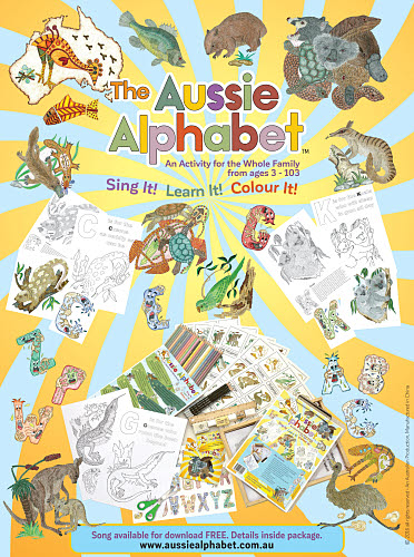 The Aussie Alphabet Activity Set & Song with FREE CD Offer - FREE Courier Delivery* - The Aussie Alphabet Activity Set & Song