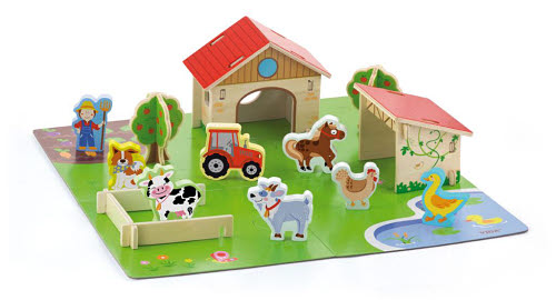 3D Farm Set with Accessories -Wooden - 3D Wooden Farm Set with Accessories