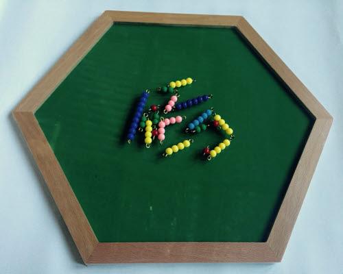 Hexagonal Felt Tray for use with Beads - Hexagonal Felt Tray for use with Beads