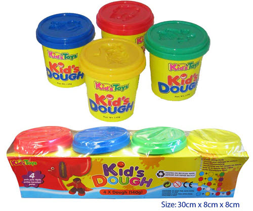 Kids Dough 4 colour pots - Kids Dough 4 colour pots