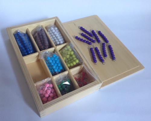 Colour Bead Bars 1-9 X 9 with Box - Colour Bead Bars 1-9 X 9 with Box