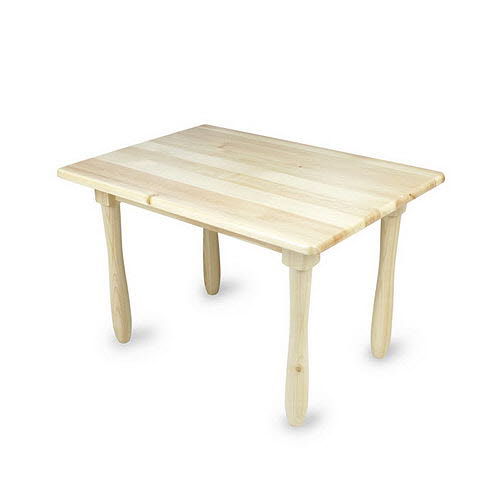 Table Rectangular A 3-6 Pinewood (rounded corners) - Table Rectangular A 3-6 Pinewood (rounded corners)