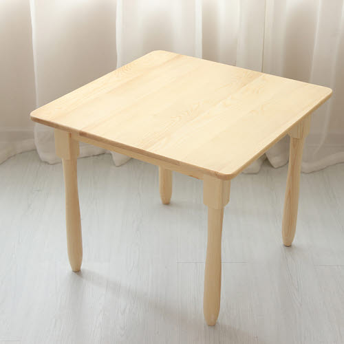 Table Square 0-3 Solid Pinewood - Table Square 0-3 Solid Pinewood (Table Only)