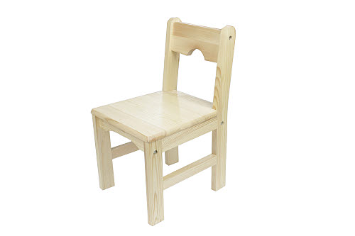 Chair 3-6 Solid Pinewood Natural Finish (Factory Seconds) - Chair 3-6 Pinewood Natural Finish