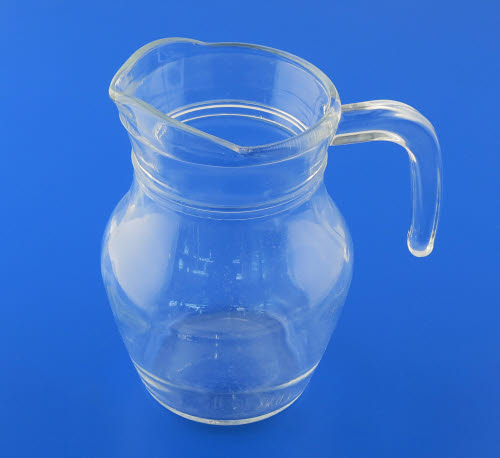 Glass Pouring Jug (open hndle) 500ml - lrg - Glass Pouring Jug 500ml - large