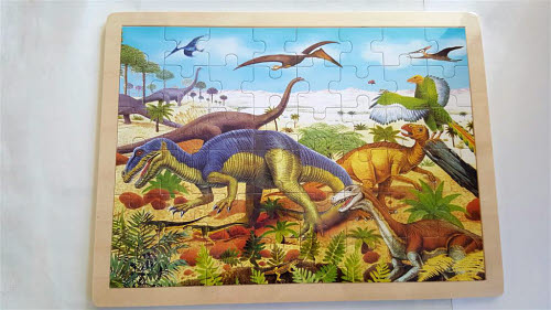 Dinosaurs- Jigsaw Puzzle 2 - 48pcs - Dinosaurs - Jigsaw Puzzle 2