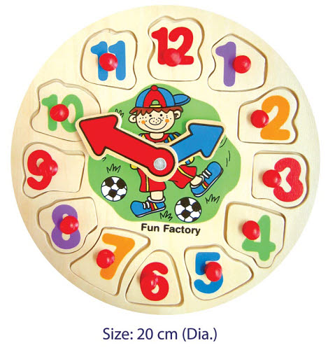 Puzzle Clock - Round Children Small - Puzzle Clock - Round Children Small