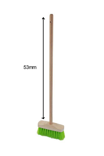 Broom - Timber with plastic bristles - Child Size - Broom - Timber with plastic bristles - Child Size