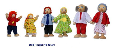 Doll Family 6 Pcs - Doll Family 6 Pcs