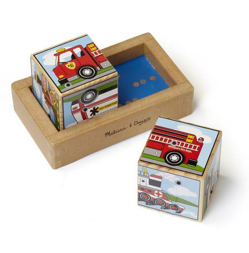 M&D - Vehicles Sound Blocks Puzzle - Vehicles Sound Blocks Puzzle