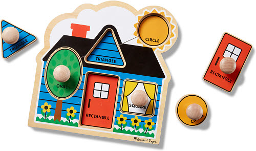 M&D First Shapes Jumbo Knob Puzzle 5pc - First Shapes Jumbo Knob Puzzle 5pc