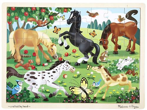 M&D - Frolicking Horses Jigsaw 48pc - M&D - Frolicking Horses Jigsaw