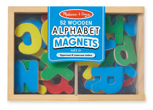 M&D - Alphabet Magnets In A Box Upper/Lower Wood - Alphabet Magnets In A Box Upper/Lower Wood