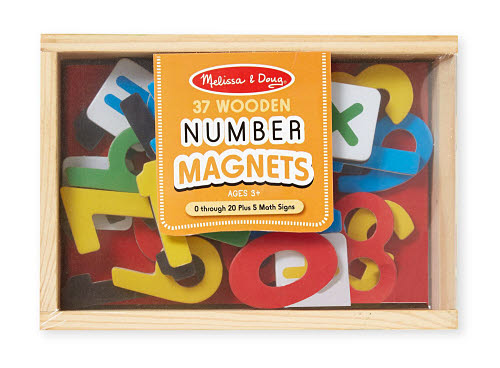 M&D - Number Magnets In A Box - Wooden - M&D - Number Magnets In A Box - Wooden