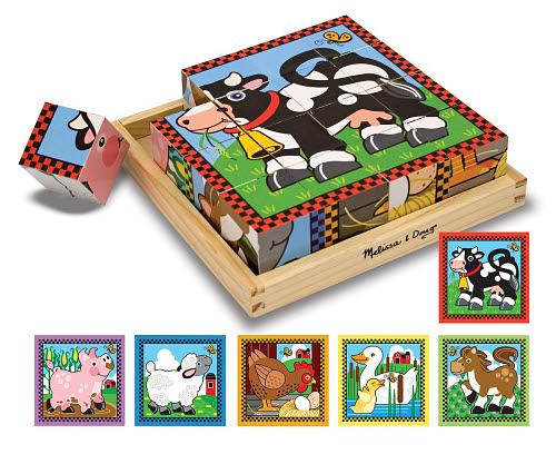M&D - Farm Cube Puzzle 16pc - VG - 9pcs Cube Puzzle Farm