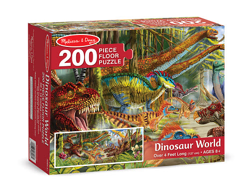 M&D - Dinosour World Floor Puzzle - 200pc - Dinosour World Floor Puzzle - 200pc