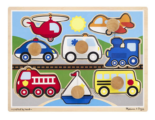 M&D - Jumbo Vehicles Knob Puzzle - M&D - Jumbo Vehicles Knob Puzzle