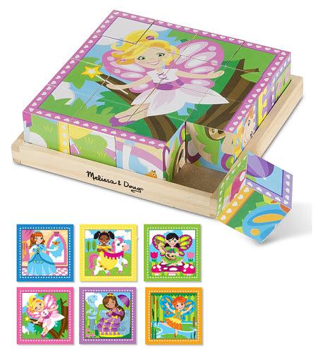 M&D - Princess & Fairies Cube Puzzle 16pc - Princess & Fairies Cube Puzzle