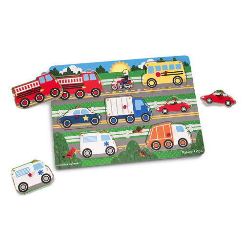 M&D - Vehicles Peg Puzzle 2 - Vehicles Peg Puzzle 2