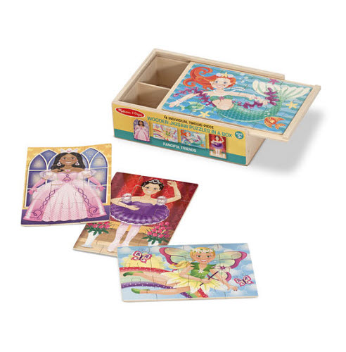 M&D - Fanciful Friends Puzzles In a Box (Set of 4) - Fanciful Friends Puzzles In a Box (Set of 4)