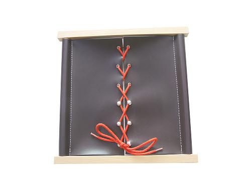 Shoe Lacing - Timber Rod Frame - Shoe Lacing Frame