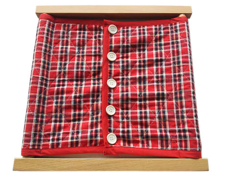 Buttoning Small Buttons - Timber Rod Frame - Butterfly Puzzle