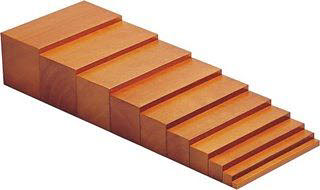 Broad Brown Stairs Wood Grain Finish - Montessori Broad Brown Stair Wood Grain Finish