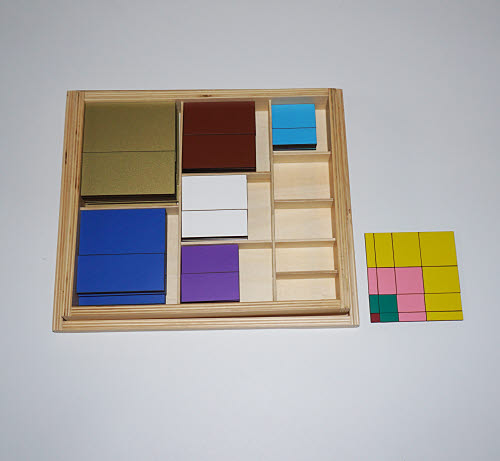 Table of Pythagoras, Decanomial Squares - Wood - Table of Pythagoras, Decanomial Squares