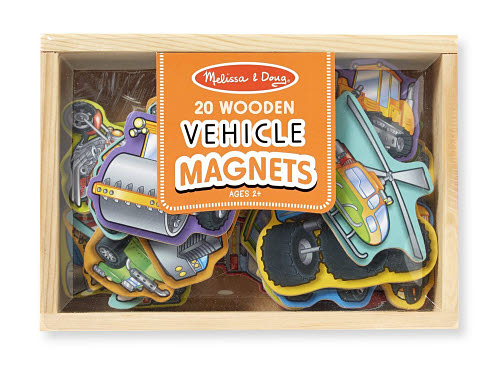 M&D - Magnetic Vehicles In A Box - Wooden - Magnetic Vehicles In A Box  - Wooden