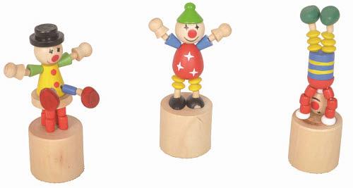Wooden Dancing Clowns (each) - Wooden Dancing Clowns(each)