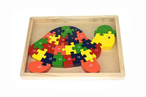 Turtle numbers & alphabet Jigsaw in Tray - Turtle Jigsaw in Tray