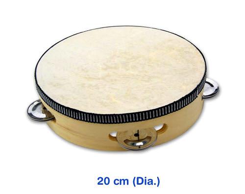Tambourine with Skin 20cm - Tambourine with Skin 20cm