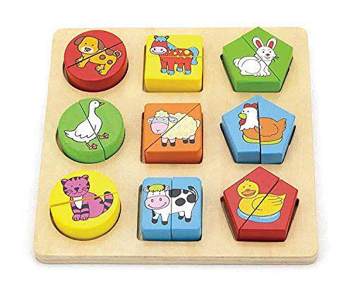Shape Block Puzzle - Farm Animals - Shape Block Puzzle - Farm Animals