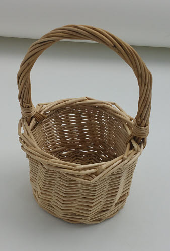 Rattan Basket with Handle - Small - Wicker Basket with Handle - Small
