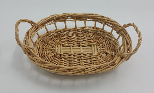 Rattan Basket with 2 Handles - Small - Wicker Basket with 2 Handles - Small