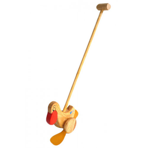 Push Toy - Pelican - Natural Timber - Push Toy - Pelican - Natural Timber