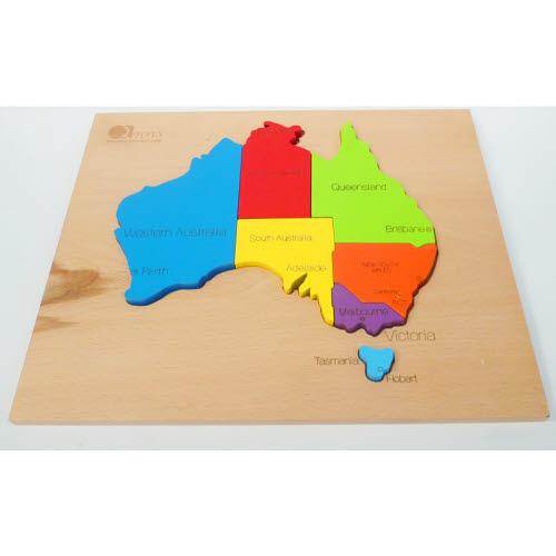 Australia Map Puzzle - Natural Timber - Australia Map Puzzle - Natural Timber