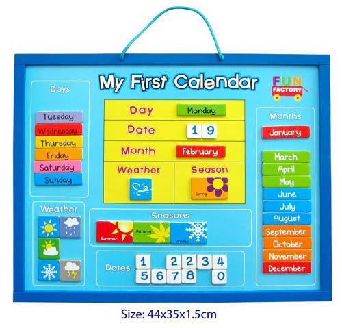 My First Calendar Board - Magnetic - My First Calendar Board - Magnetic