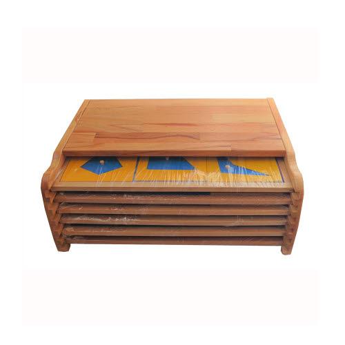 Geometric Cabinet in Full Beech Wood - Geometric Cabinet in Full Beech Wood