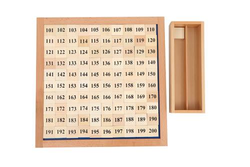Two Hundred Board - Montessori Two Hundred Board