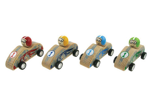 Pull Back Natural Racing Car (each) - Pull Back Natural Racing Car (each)