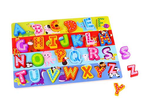 Alphabet Puzzle Board Large (only 3 Left) - Alphabet Puzzle Board Large