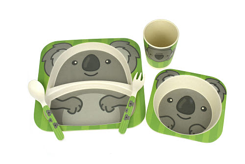 Bamboozoo Dinnerware Koala 5pc - Bamboozoo Dinnerware Tiger 5PC