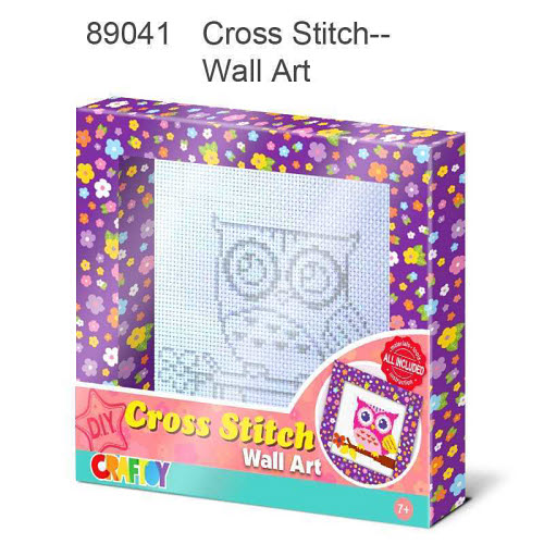 Cross Stitch Wall Art - Owl - Cross Stitch Wall Art - Owl