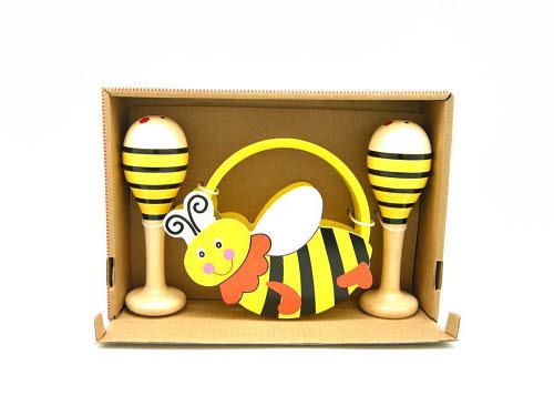 Bee Maraca & Tamborine - Bee 3pcs Musical Set
