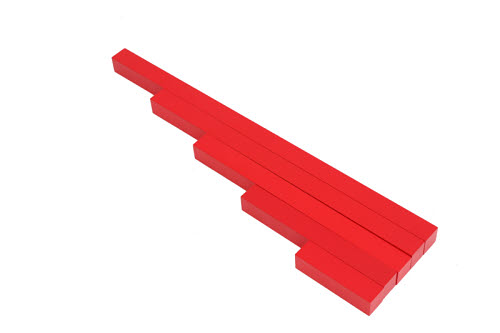Red Rods - 5 Steps - Long Red Rods - 5 Steps